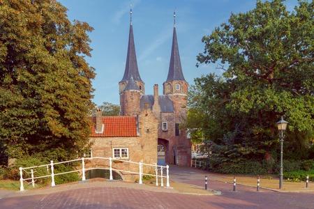 Delft. Old City Gates. Stock Photo