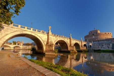 Rome. Bridge of the Holy Angel.