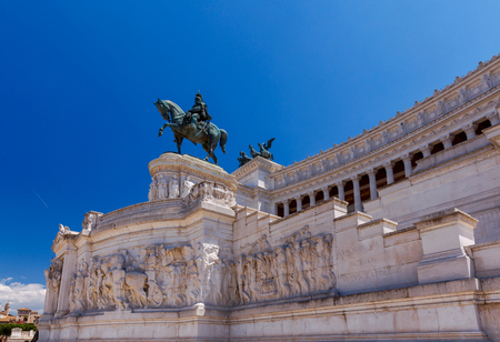 altar of fatherland: Rome. Altar of the Fatherland. Stock Photo