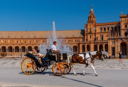 Seville. Spanish Square or Plaza de Espana. Editorial