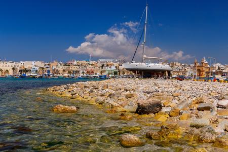 Malta. Yachts on the shore.