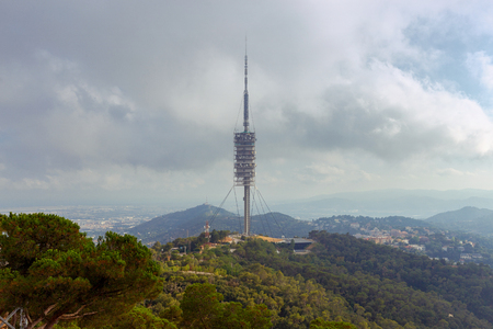 Barcelona. A television tower in the park of Collserola.