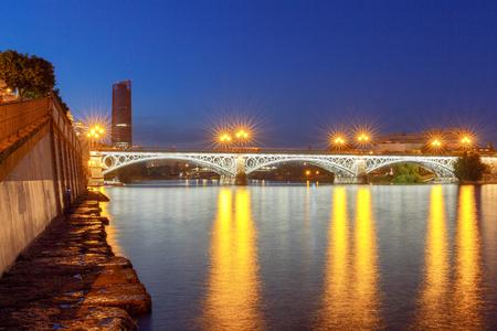 Sevilla. Bridge of Isabel II. Stock Photo