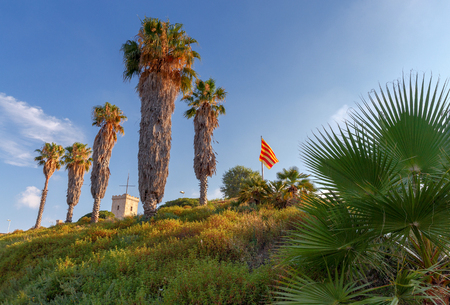 montjuic: Barcelona. Montjuic Hill. Stock Photo