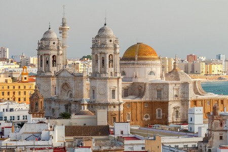 The citys main cathedral in Cadiz. Stock Photo
