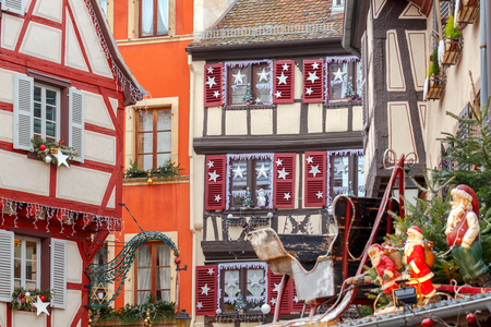 the little venice: Colmar. Old half-timbered houses.
