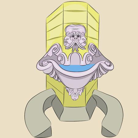 Vector. Drinking fountain. Illustration