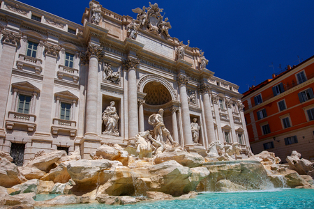 Rome. Trevi Fountain.