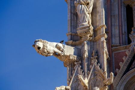Siena. De kathedraal van de Heilige Maagd. Stockfoto