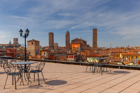 Bologna. Aerial view of the city. Stock Photo