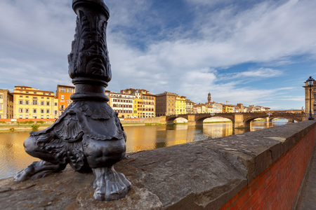 Florence. The city embankment along the Arno River. Stock Photo