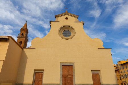 Florence. Basilica Santo Spirito. 免版税图像