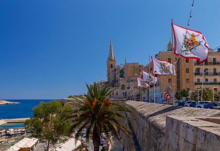 Valletta. City embankment on a sunny day. Stock Photo