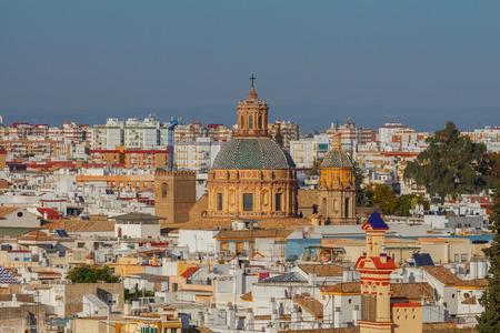 Seville. Aerial view of the city.
