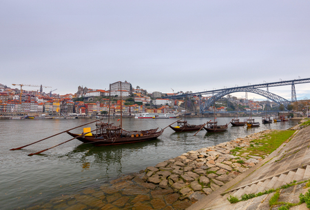 Porto. Traditional boats for wine transportation.