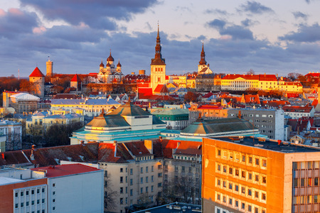 Tallinn. The Alexander Nevsky Cathedral on Toompea Hill. Stock Photo