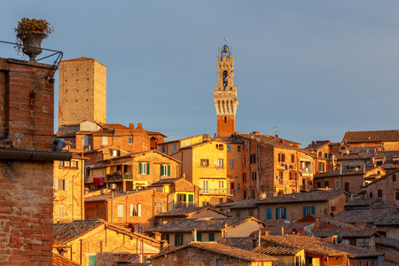 Siena. Aerial view of the city.