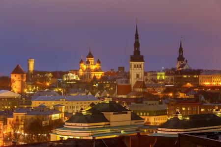 Tallinn. The Alexander Nevsky Cathedral on Toompea Hill. Stock Photo
