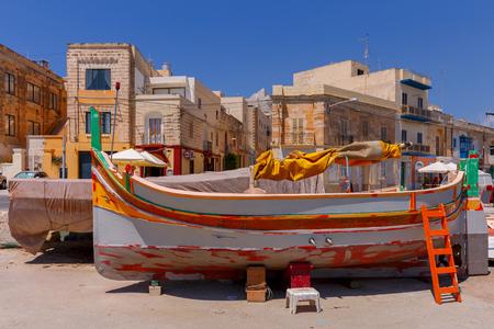 Malta. Marsaxlokk. Traditional fishing boats.