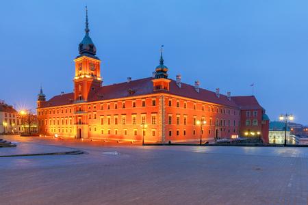 Warsaw. Royal Square. Фото со стока
