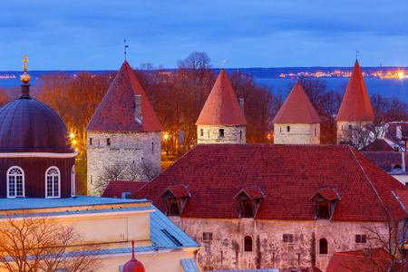 Tallinn. Aerial view of the city at dawn.