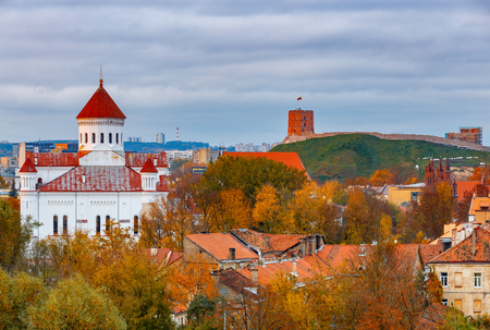 Vilnius. Aerial view of the city. 版權商用圖片