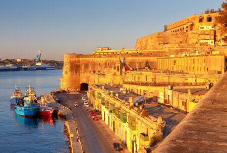 Valletta. Mediterranean harbor. Reklamní fotografie