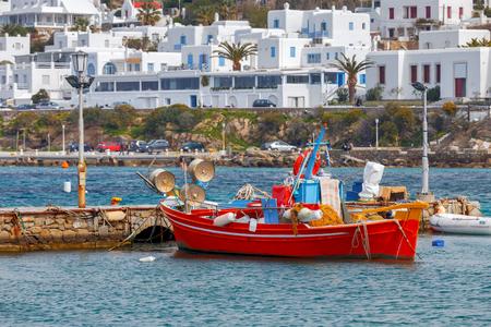 Mykonos - Fishing boats in the bay