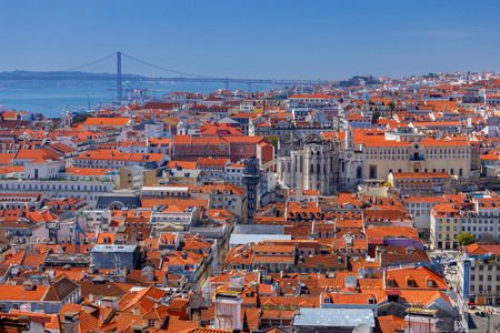 Lisbon. Aerial view of the city. Stock Photo