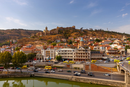 View of the old town on a sunny day. Tbilisi. Georgia. Stock Photo