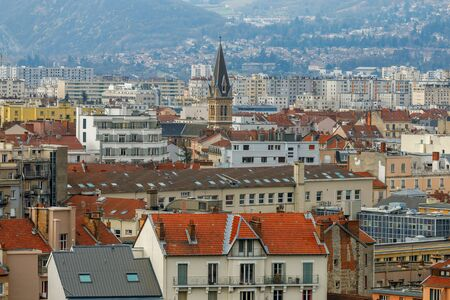 Grenoble. Aerial view of the city.