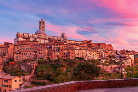 Siena. Cathedral at sunset.