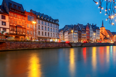 Strasbourg. Quay St. Thomas. Stock Photo