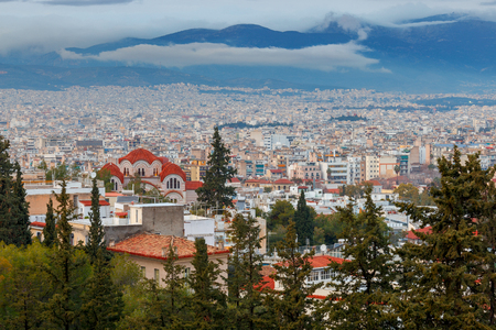 Athens. Aerial view of the city. Imagens
