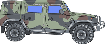 Vector  Armored car. Ilustrace
