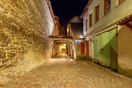 Tallinn. Lane of St. Catharine. Stock Photo