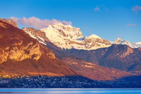 France. Lake Annecy. Imagens