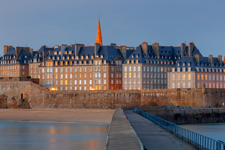 Saint Malo. View of the old town.