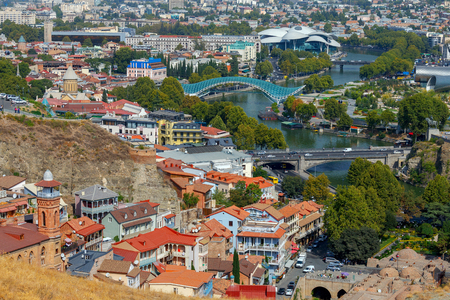 The historical old city of Tbilisi in Georgia