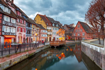 Colmar. Old medieval house in the historical part of the city. France. Alsace.