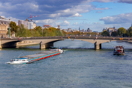Paris. City embankment along the Seine.