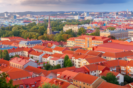 Gothenburg. Aerial view of the city.