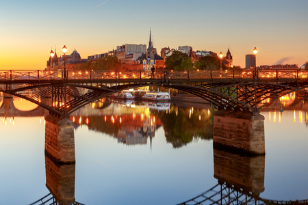Paris. Bridge of Leopold Sedar Senghor. Banco de Imagens