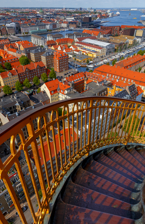 Copenhagen. Aerial view of the city. Archivio Fotografico - 115531656