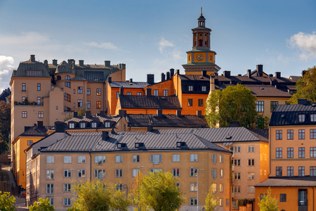 Stockholm. Houses on the waterfront.