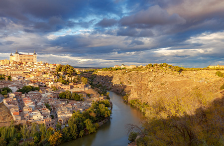 Toledo. Aerial view of the city. Stock fotó