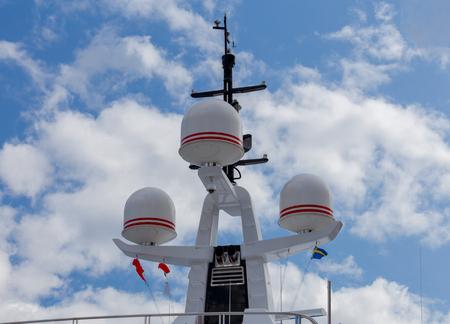Ships satellite dish. 写真素材 - 119064029