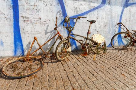 Stockholm. Old recessed bike.