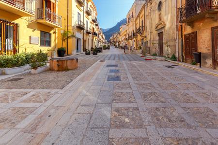 Italy. Sicily. Castellammare del Golfo. 版權商用圖片