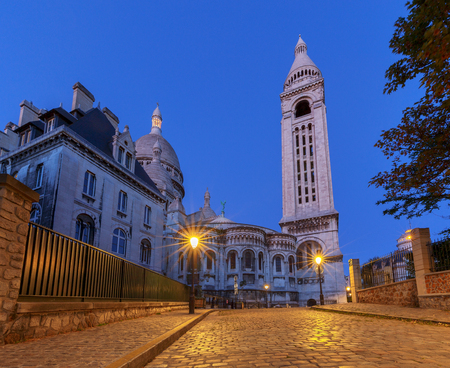 Paris. Sacre Coeur in the early morning.